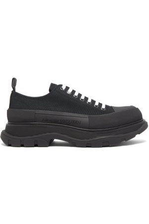 Alexander McQueen Tread Slick Chunky-sole Canvas Trainers - Mens - Black