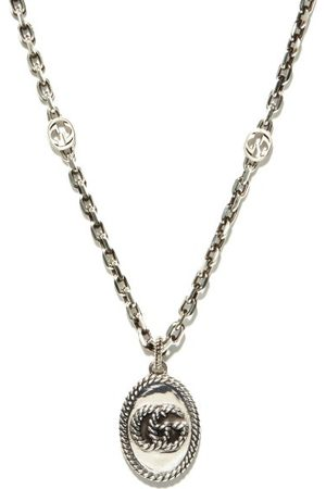 Gucci GG Marmont Sterling-silver Necklace - Mens - Silver