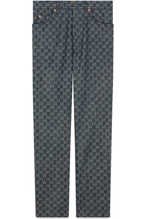 Gucci Eco washed GG denim trousers
