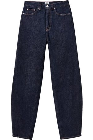 Totême High-rise Barrel-leg Jeans - Womens - Dark Denim