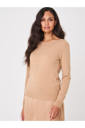 REPEAT Easy Knit Cashmere trui met boothals