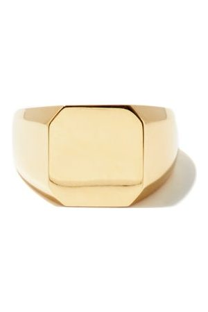 Shay Honeycomb-back 18kt Gold Signet Ring - Mens - Gold