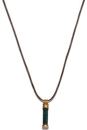 Fernando Jorge Bar Tourmaline & 18kt Gold Pendant Necklace - Mens - Yellow Gold