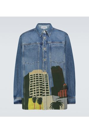 Loewe Heren Overhemden - Ken Price LA Series denim overshirt