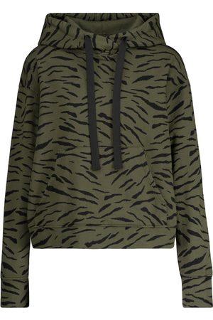 Velvet Roseanne printed cotton hoodie