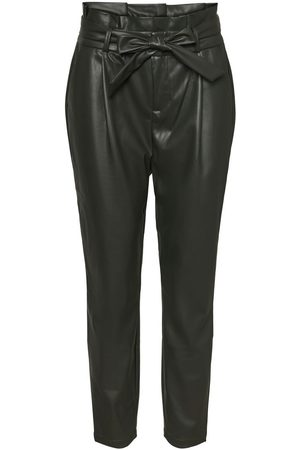 Vero Moda High-waist Paperbag Enkel Broek Dames Green