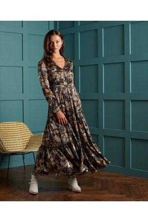 Superdry DRY Zijden Dry jurk met print in gelimiteerde oplage