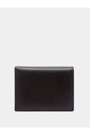 Comme des Garçons Grained-leather Bi-fold Wallet - Mens - Black