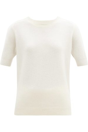 Lisa Yang Dames Sweaters - Kenza Cashmere Short-sleeved Sweater - Womens - Cream