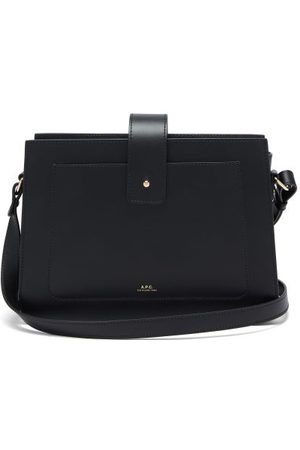A.P.C Albane Smooth-leather Cross-body Bag - Womens - Black