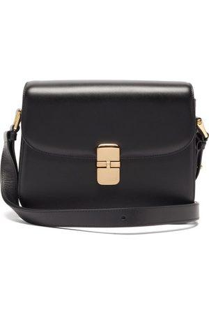 A.P.C. Dames Schoudertassen - Grace Large Smooth-leather Cross-body Bag - Womens - Black