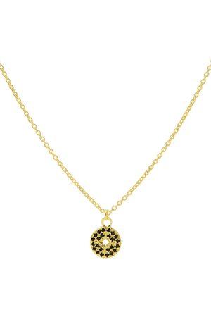 Karma Kettingen Necklace Diamond Disc Gold colored Goudkleurig