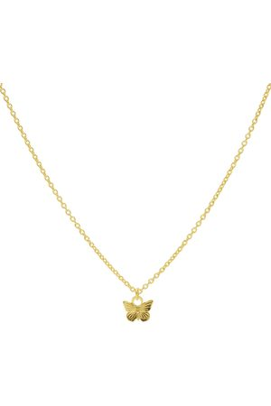 Karma Dames Kettingen - Kettingen Necklace Butterfly Goudkleurig