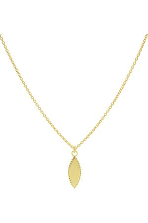 Karma Dames Kettingen - Kettingen Necklace Dots Pointy Oval Goudkleurig