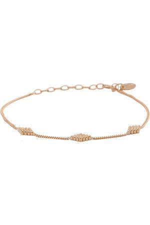 Karma Dames Armbanden - Armbanden Bracelet Diamond Shape Dots Roségoudkleurig