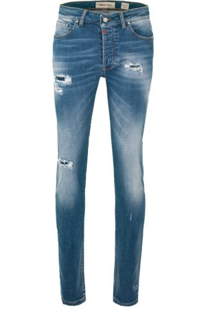Tigha Heren Jeans Morten 99102 repaired (mid blue)