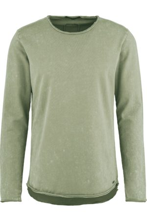 Tigha Heren Lange mouw - Herren Longsleeve Milo Sweat Spray LS groen (vintage pepper mint)