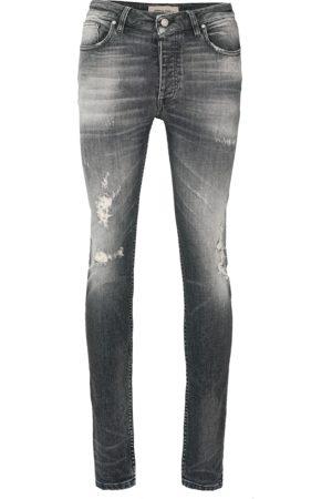 Tigha Heren Jeans - Herren Jeans Morten 99102 destroyed grijs (dark grey)