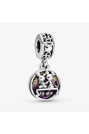 PANDORA Disney Mickey Mouse & Minnie Mouse Happily Ever After Hangende Bedel, Sieraden uit Sterling zilver, No stone, , 798866C01