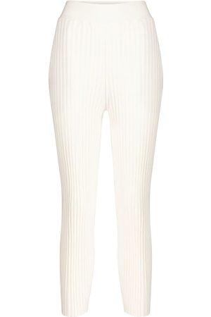 Stella McCartney Ribbed wool-blend straight pants