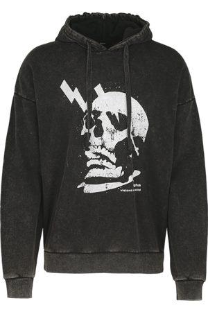 Tigha Heren Truien - Herren Hoodie Electrified Skull Hoodie zwart (vintage black)