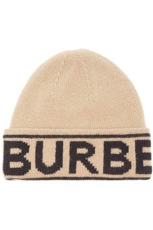 Burberry Logo-jacquard Cashmere Beanie - Womens