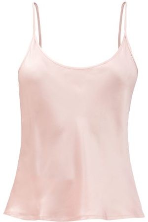 La Perla Scoop-neck Silk-charmeuse Cami Top - Womens - Light Pink