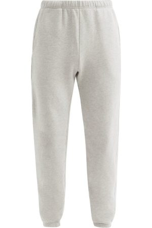 Les Tien Heren Joggingbroeken - Brushed-back Cotton-jersey Track Pants - Mens - Grey