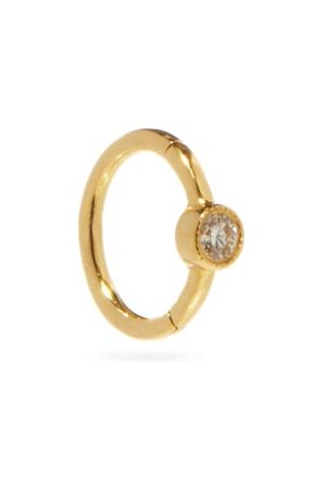 Maria Tash Diamond & 18kt Gold Single Huggie Earring - Womens - Yellow Gold