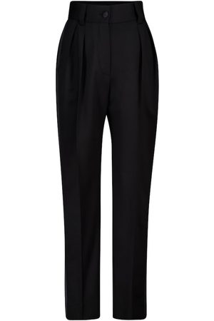 Miu Miu High-rise straight stretch-wool pants