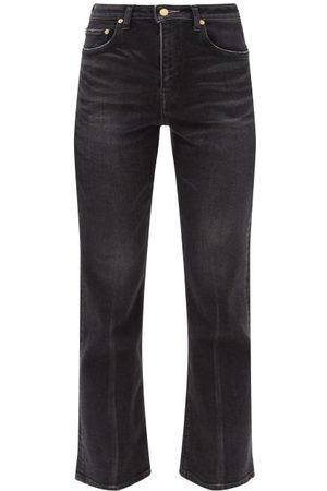 TU ES MON TRESOR Amethyst Flared Jeans - Womens - Black