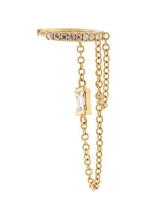Maria Tash Diamond & Yellow-gold Single Earring - Womens - Yellow Gold