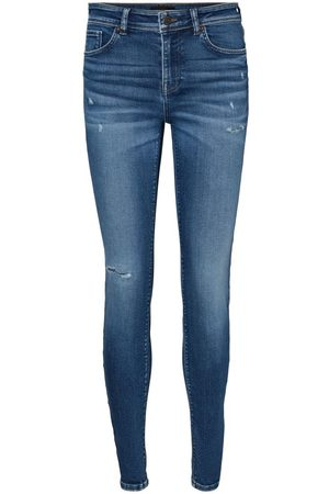Vero Moda Vmlux Regular Waist Slim Fit Jeans Dames