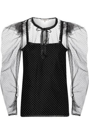 Dorothee Schumacher Dames Blouses - Playful Transparency polka-dot blouse