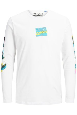 Jack & Jones Marvel Long-sleeved T-shirt Heren White