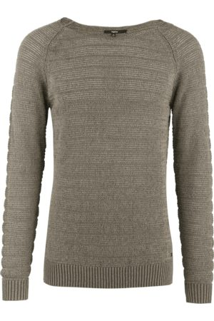 Tigha Heren Sweaters - Herren Sweater Harley groen (military green melange)