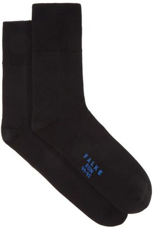 Falke Heren Ondergoed - Run Cotton-blend Running Socks - Mens - Black