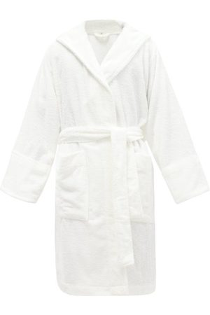 Tekla Hooded Organic-cotton Terry Bathrobe - Mens - White