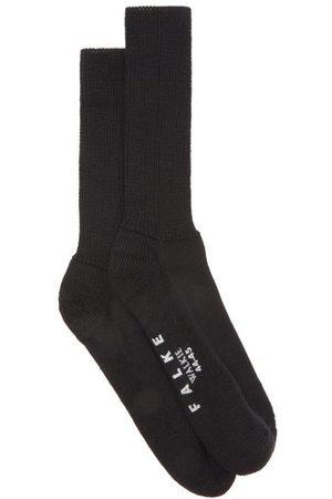 Falke Walkie Ergo Wool-blend Socks - Mens - Black