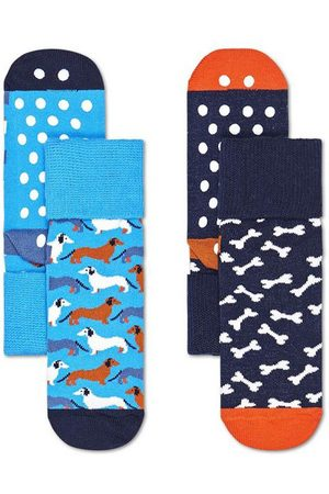 Happy Socks Kinderen Slips - Sokken 2-Pack Kids Dog Anti-Slip Socks