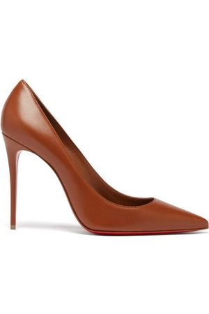 Christian Louboutin Kate 100 Leather Pumps - Womens - Mid Nude
