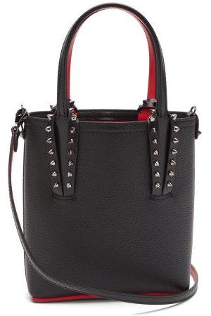 Christian Louboutin Dames Schoudertassen - Cabata Mini Spike-embellished Grained-leather Bag - Womens - Black