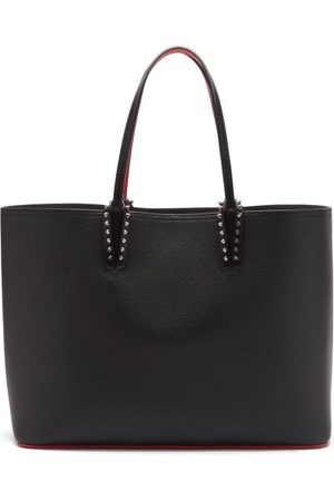Christian Louboutin Cabata Spike-embellished Leather Tote Bag - Womens - Black