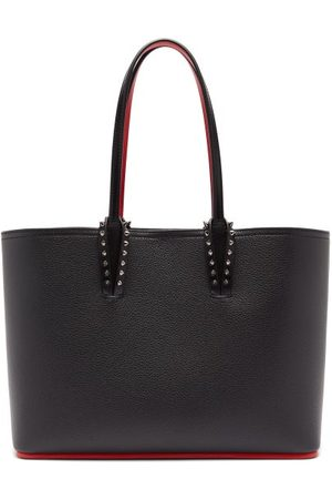 Christian Louboutin Dames Shoppers - Cabata Small Spike-embellished Leather Tote Bag - Womens - Black