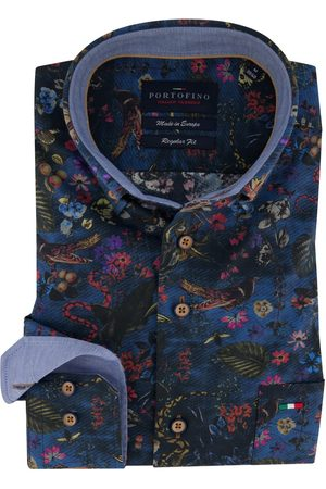 Portofino Overhemd Regular Fit navy bloemen