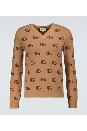 Gucci Double G jacquard wool sweater