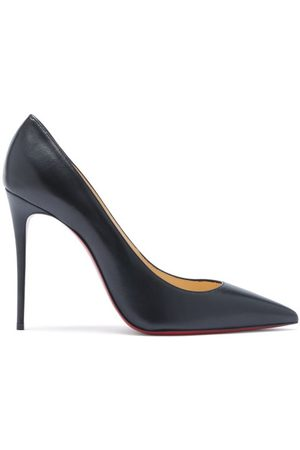 Christian Louboutin Kate 100 Leather Pumps - Womens - Black