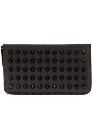 Christian Louboutin Credilou Studded Leather Cardholder - Mens - Black