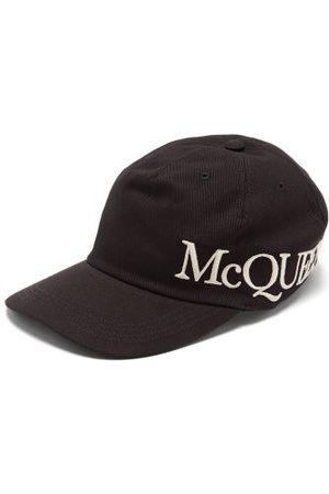 Alexander McQueen Logo-embroidered Cotton-canvas Cap - Mens - Black White