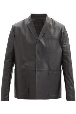 Prada Leather Jacket - Mens - Black